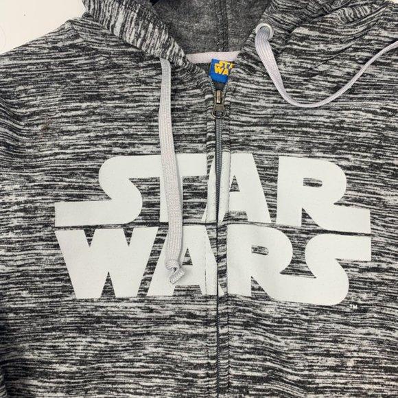 Men's Star Wars Zip Up Gray  Hoodie Size Medium